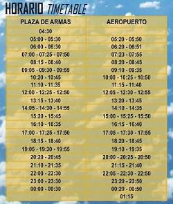 vliegveld buslijn tijden Sevilla