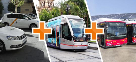 Sevilla_taxi-tram-bus